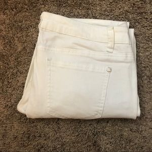 Cropped white Jeggings